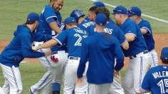Blue Jays edge Rays in protested walk-off win