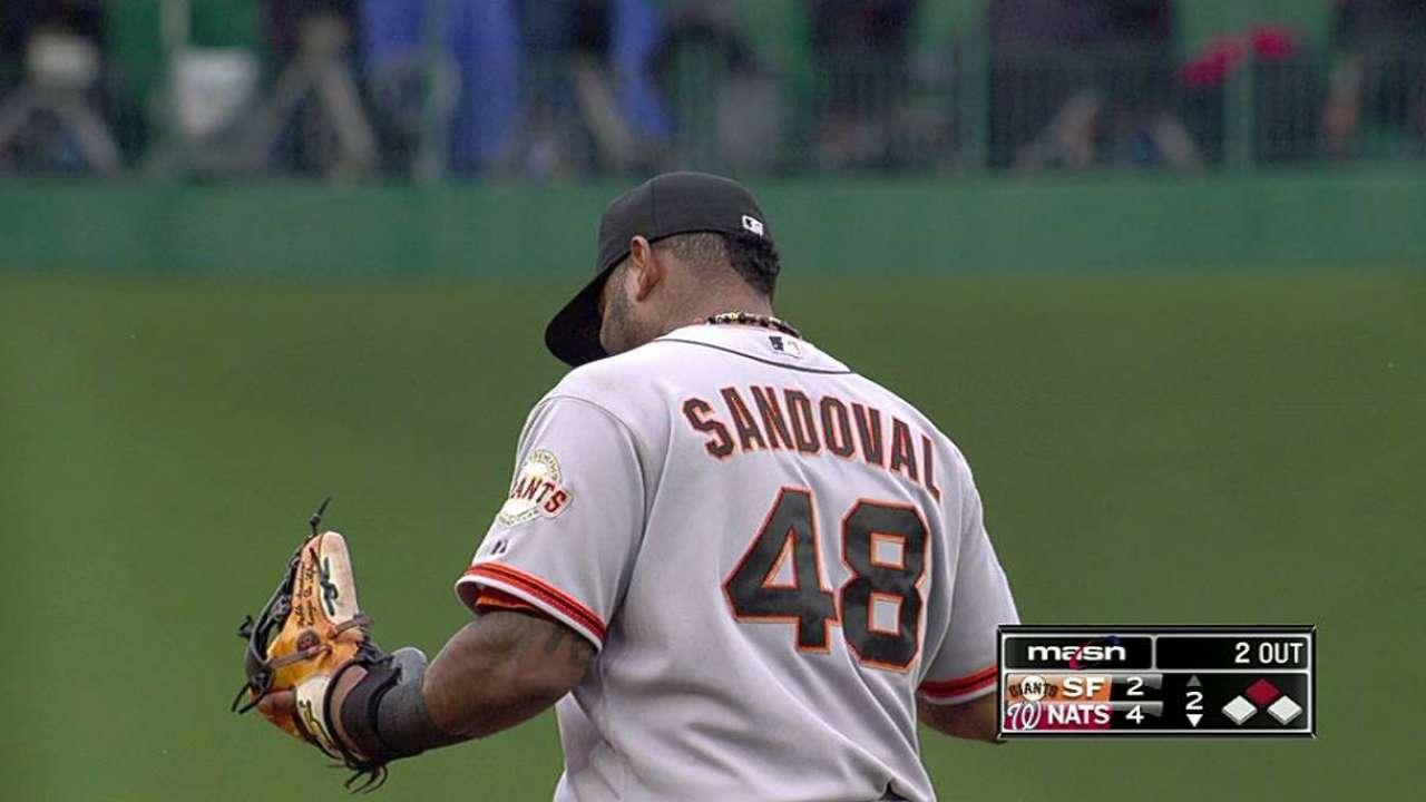 Sandoval ends impressive errorless streak