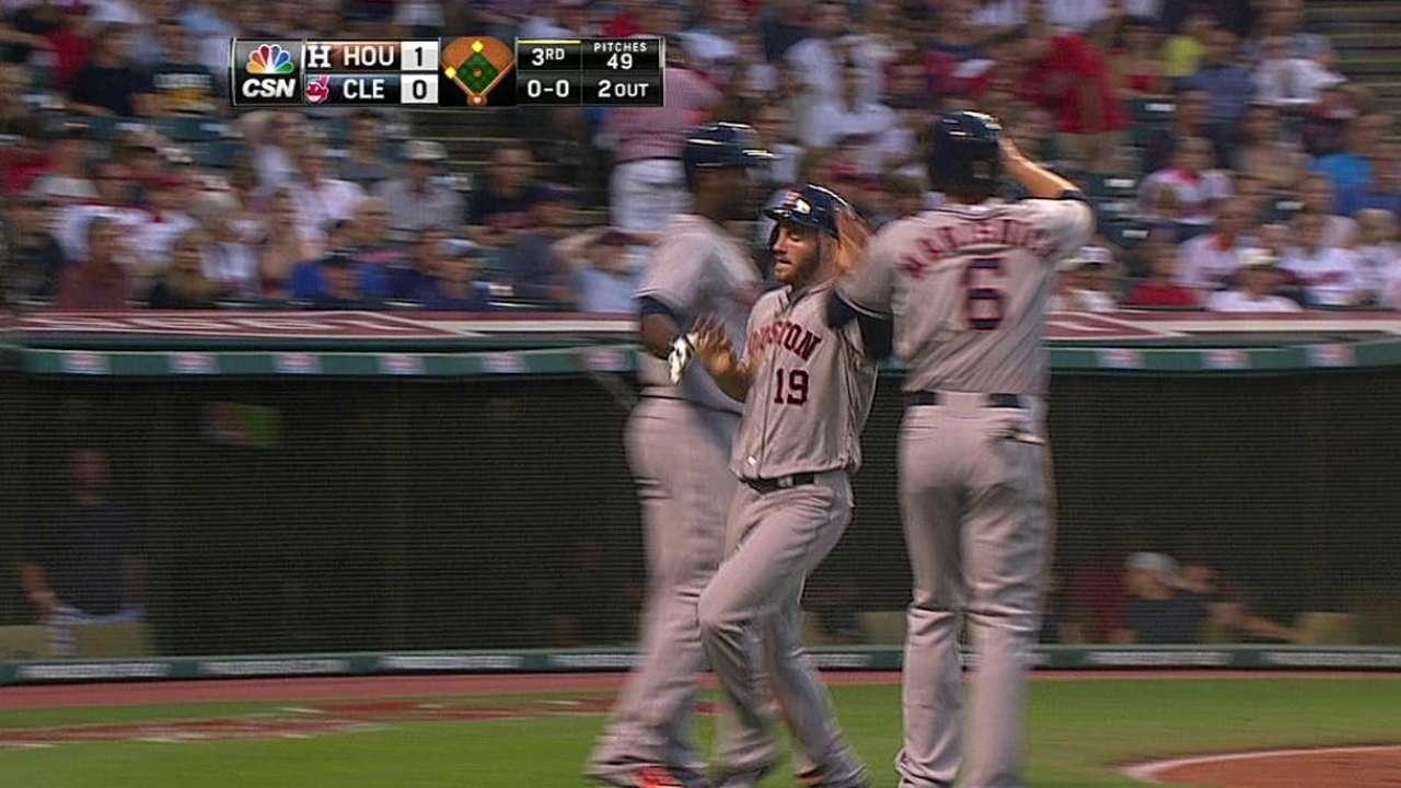 Altuve remolca carrera pero Astros caen con Indios