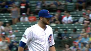 Grimm, 'pen spotless in Cubs' rain-soaked win