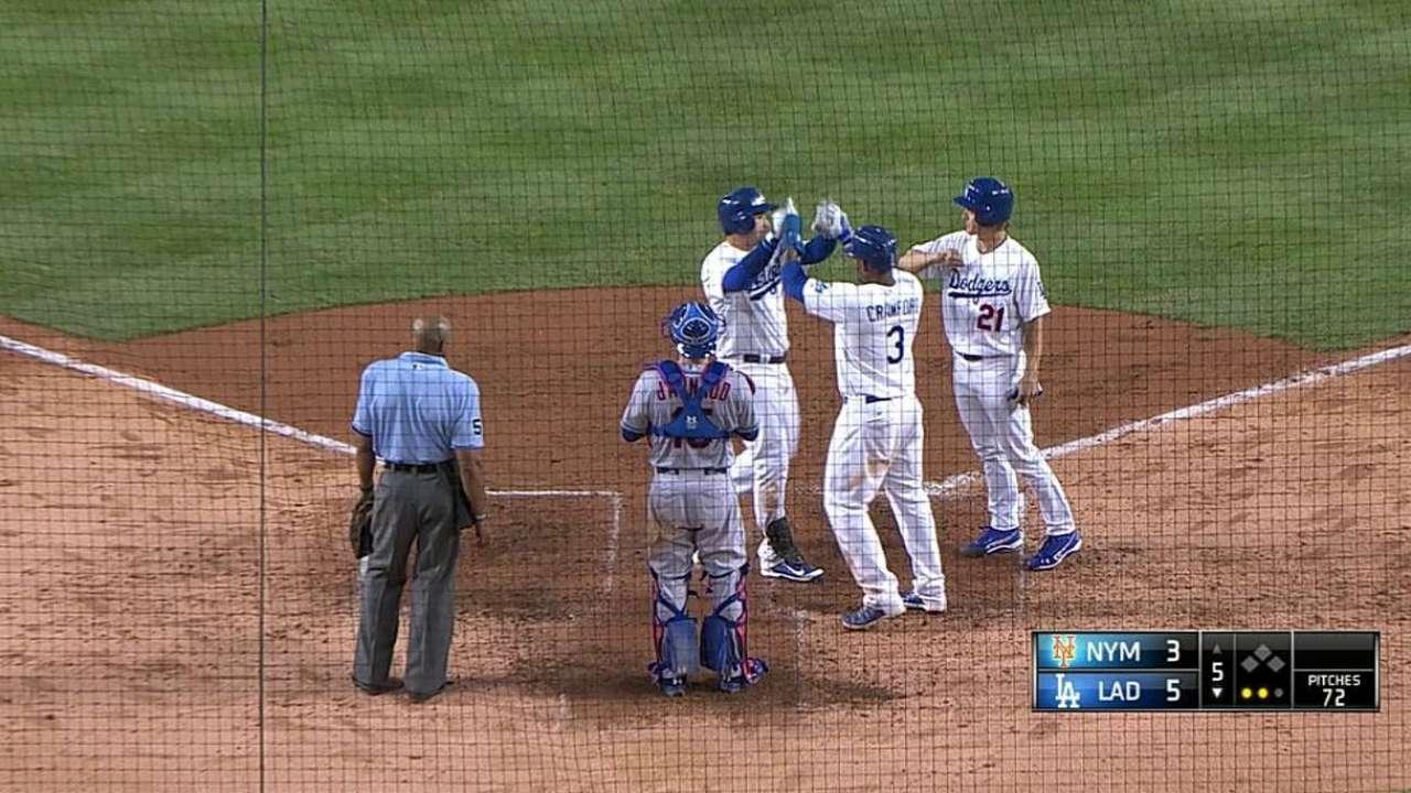 González remolca 5 y L.A. vuelve a pegarle a Mets