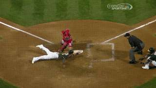 A's lose challenge on tag play at home plate