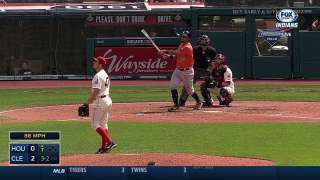 Foul call upheld in Astros-Indians finale
