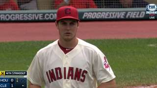 Bauer handcuffs Astros to give Tribe series