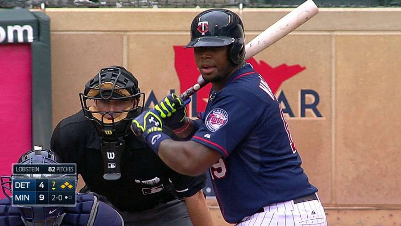 Twins' bats stay red hot in matinee win over Tigers