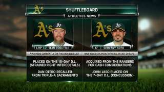 Soto joins A's eager to work with rotation