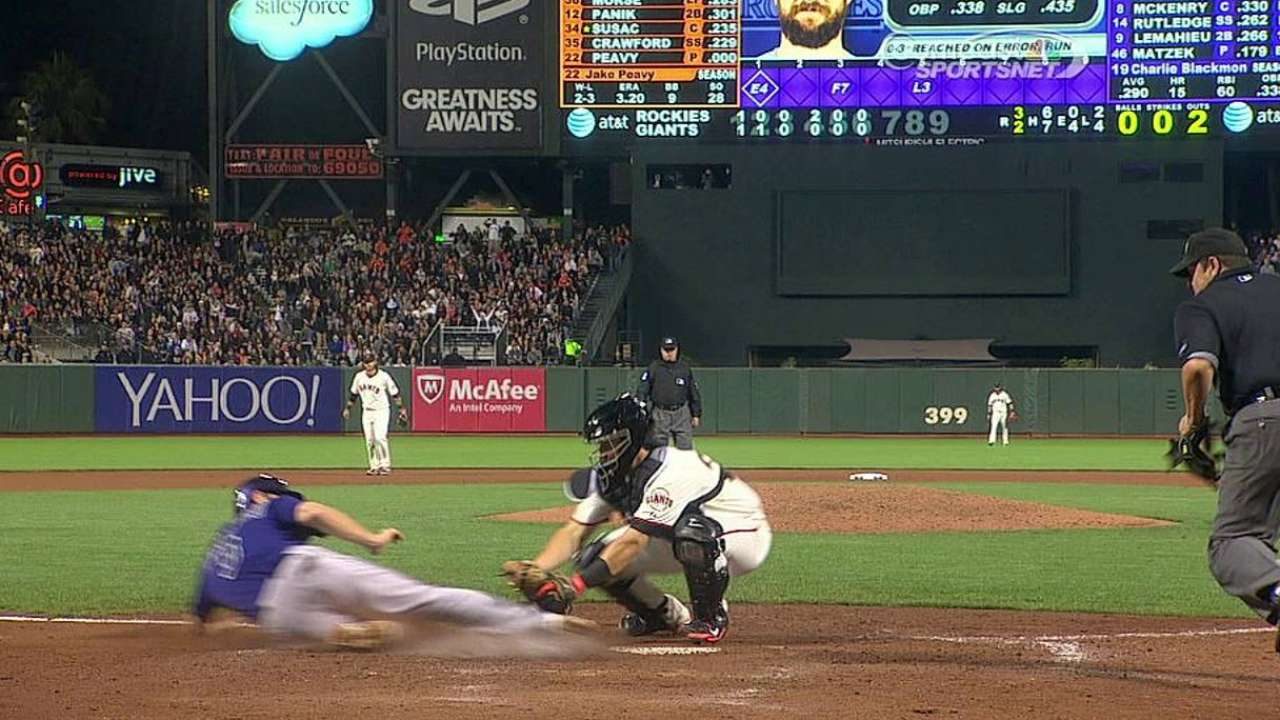 Giants' challenge takes away Rockies' run