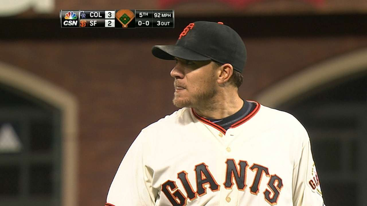 Mistakes costly as Giants fall to Rockies