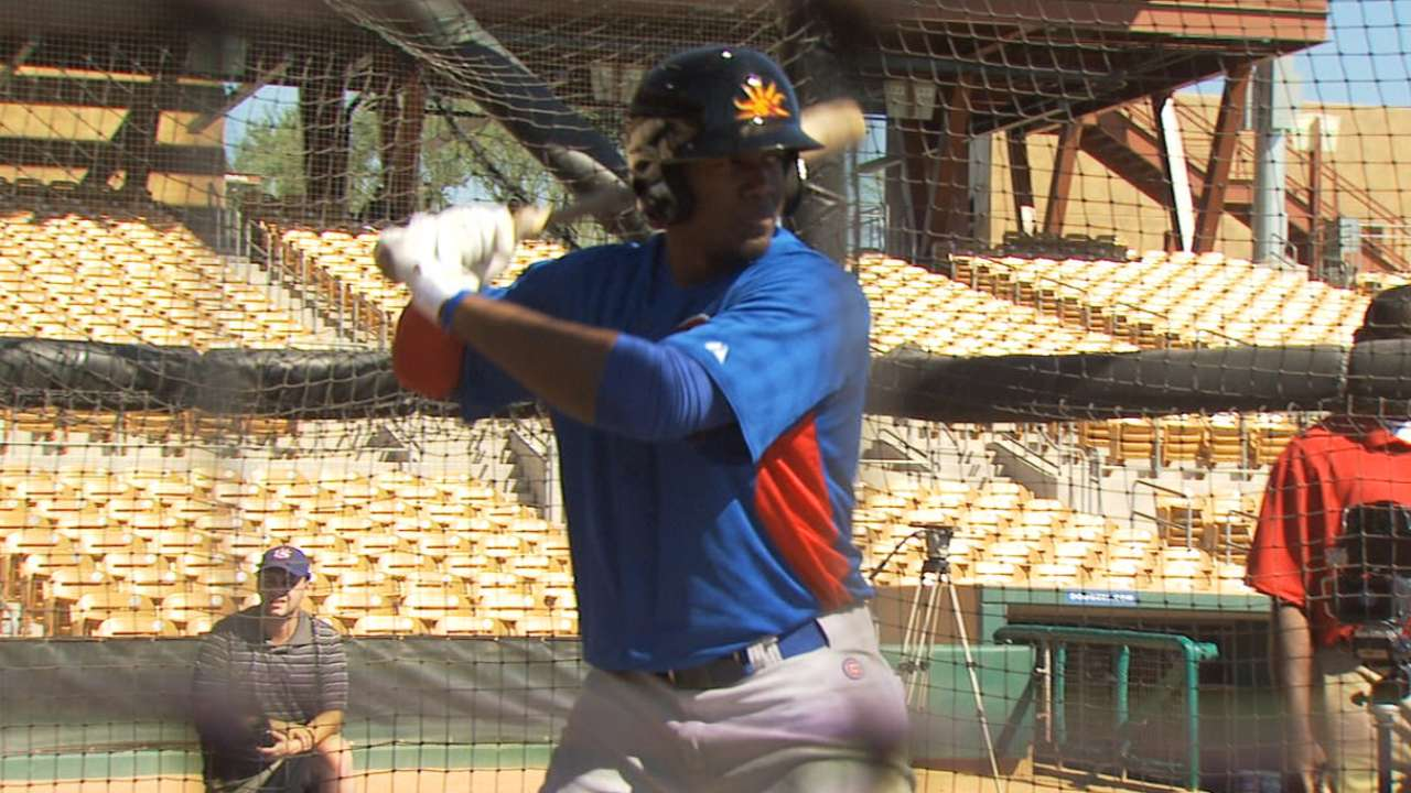 Cubs excited to welcome Soler for latest debut
