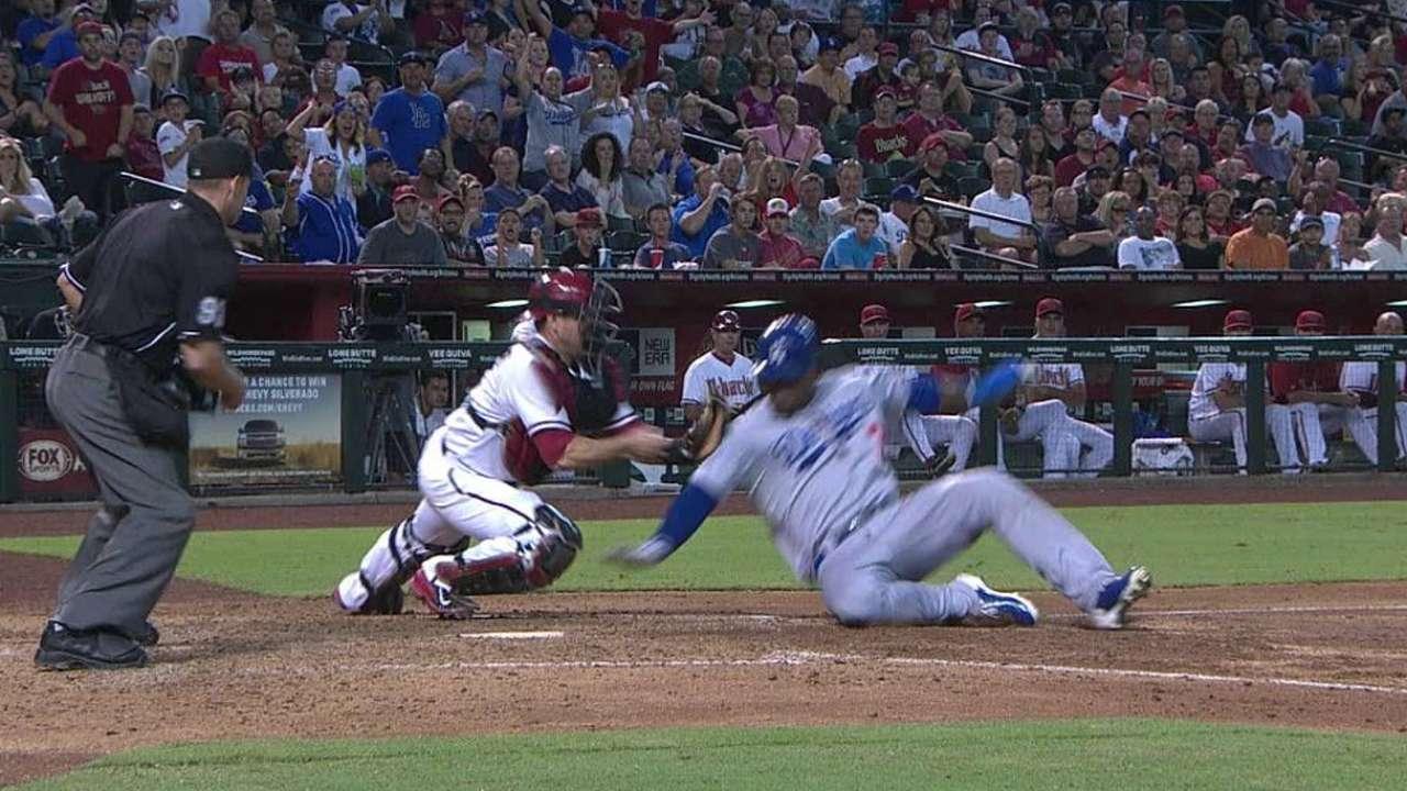 Replays help LA post six runs in Arizona