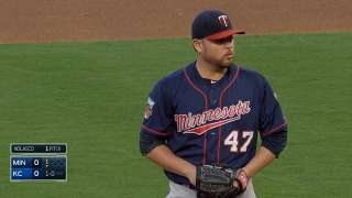Twins bested by late jack in Nolasco's fine start