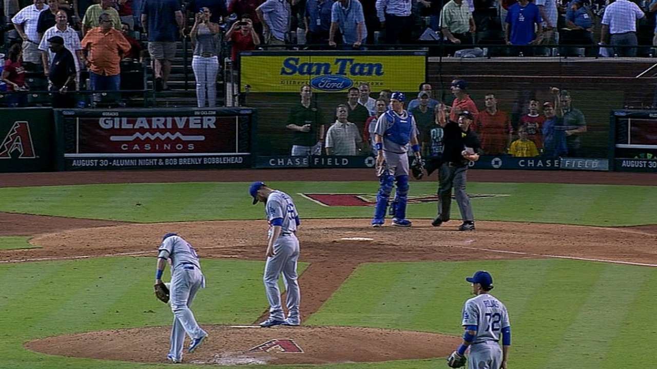 Ethier earns first ejection of '14 vs. D-backs