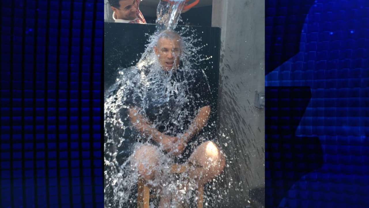 Yanks support ALS research; Girardi takes challenge