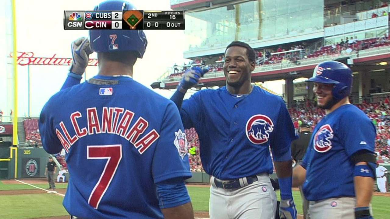 Soler's first game, homer brings 'exciting news'