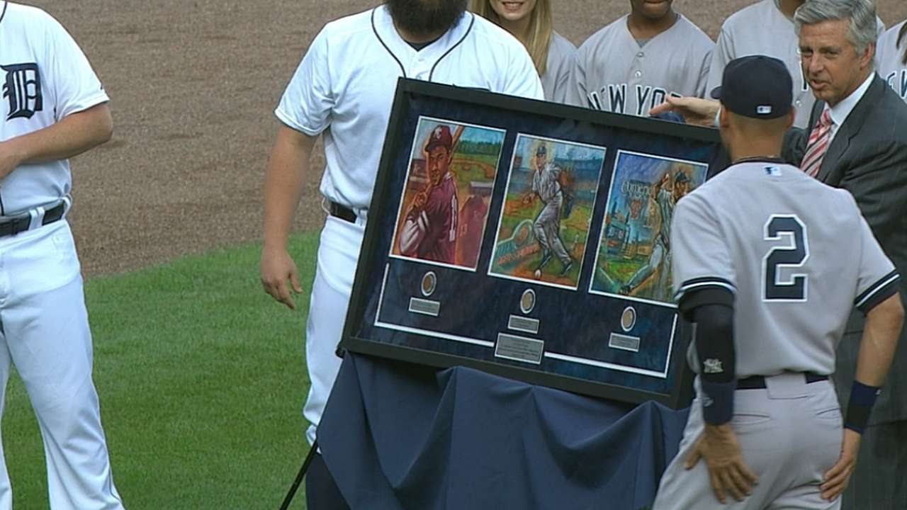 Tigers keep it local in honoring retiring Jeter