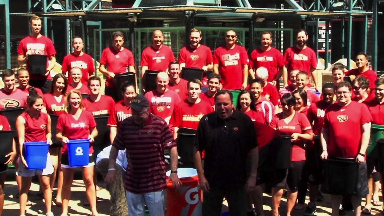 D-backs' Ice Bucket Challenge