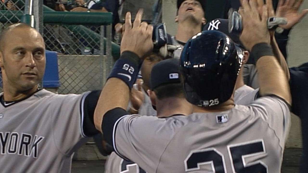 Yanks bat around off Price with nine consecutive hits
