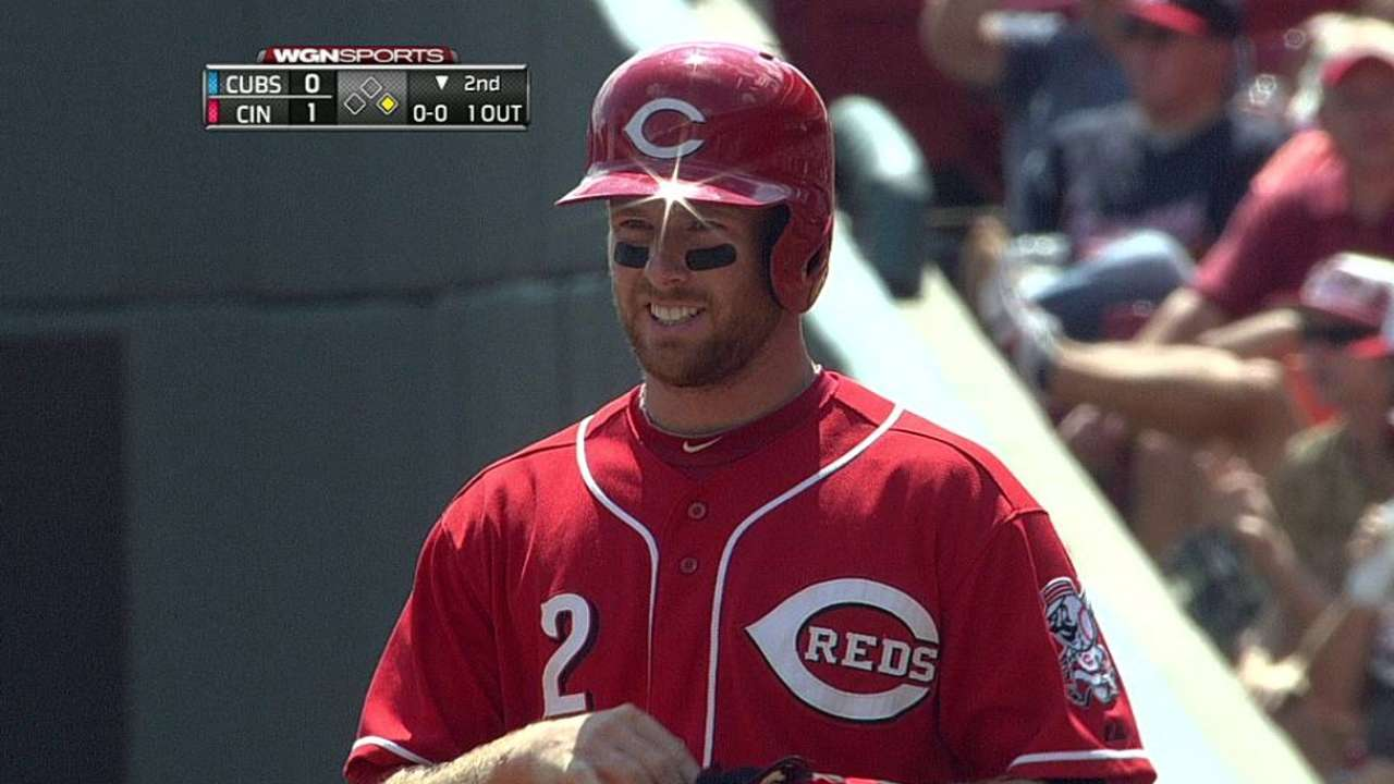 Cozart stays in Cincinnati for tests on sore wrist