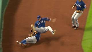 Adduci exits after banging head making catch