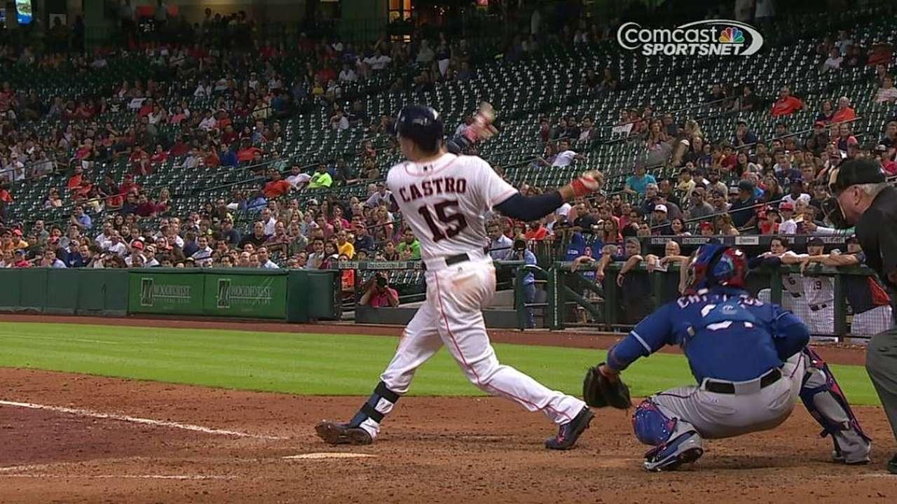 Castro definió victoria de Astros con grand slam