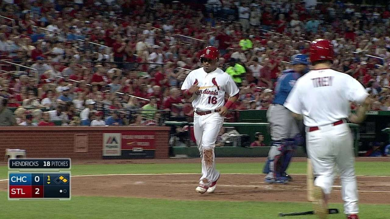 Cardinals set back by youthful Cubs