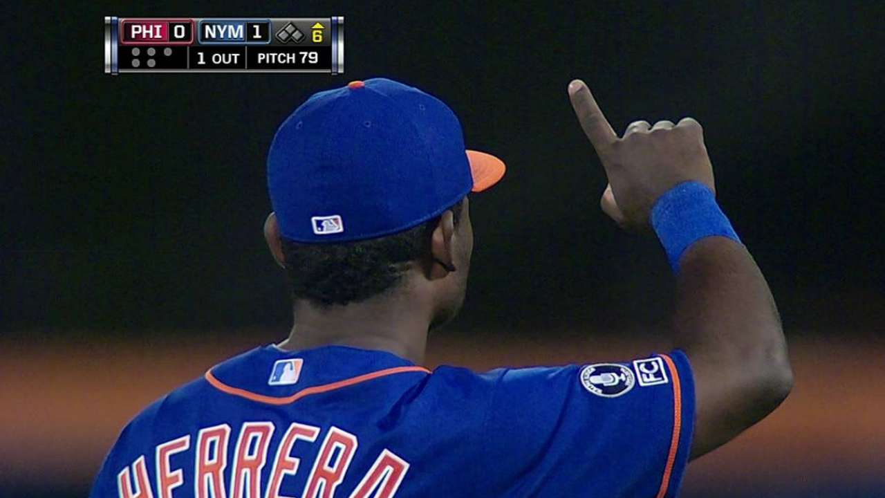 Herrera makes Major League debut for Mets