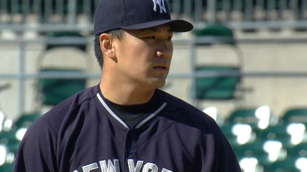 Tanaka experiences soreness in throwing arm