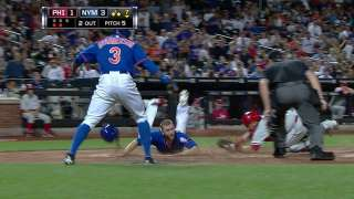Campbell swipes home on double steal