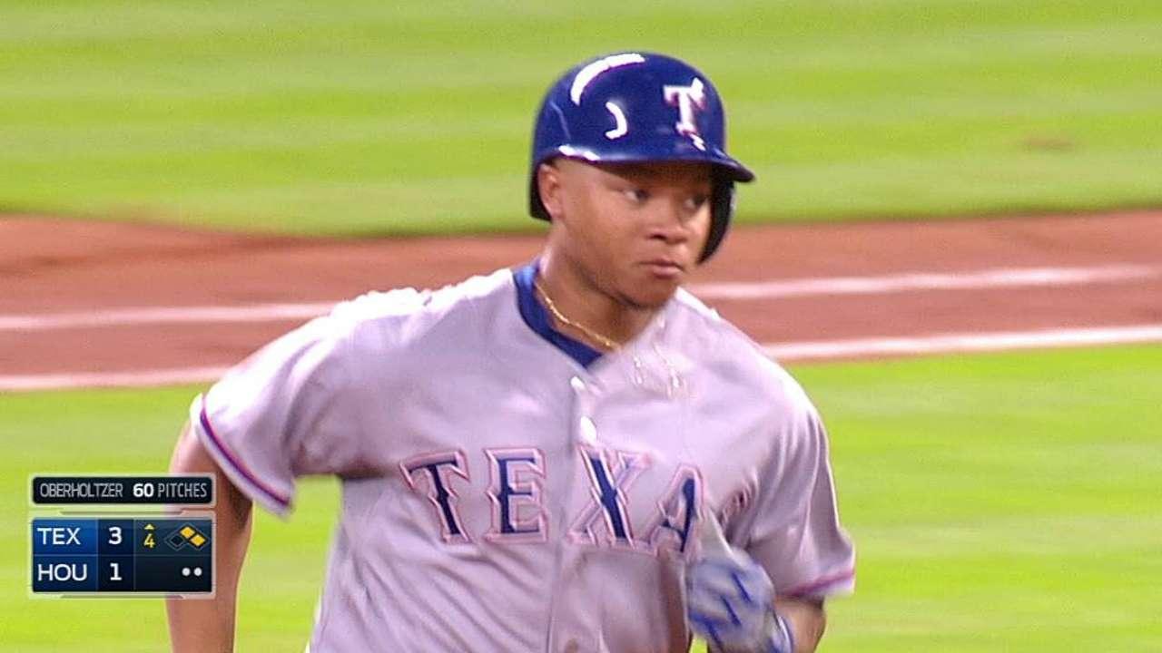 Rangers ganan con jonrones de Odor y Choice