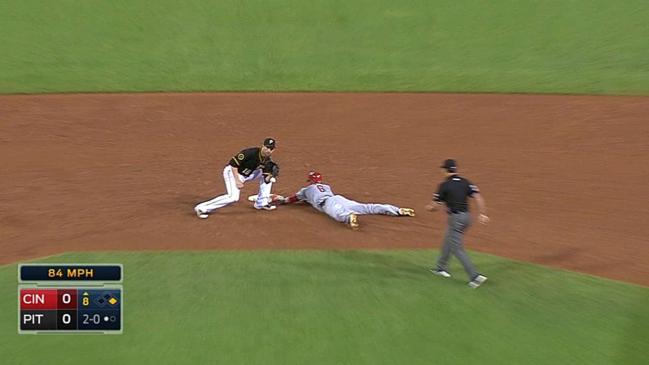 Hamilton swipes two bases