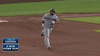Tribe trims Central deficit by stymying Royals