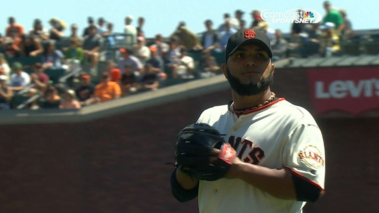 Giants to give Petit another start in Lincecum's slot