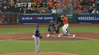 Giants romp past Brewers into Wild Card lead