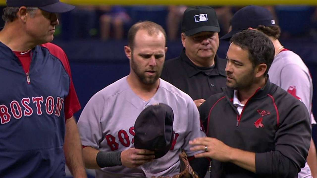 Pedroia has symptoms 'consistent with a concussion'