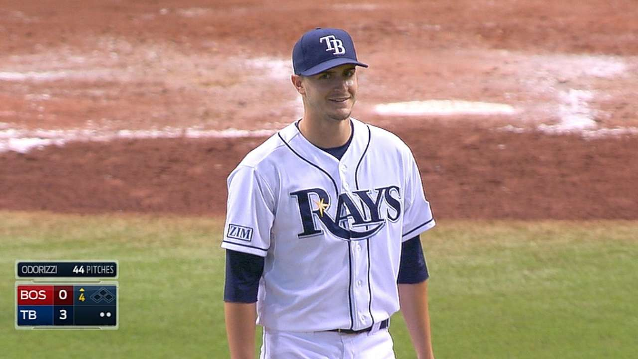 Odorizzi helps Rays notch record 18th shutout