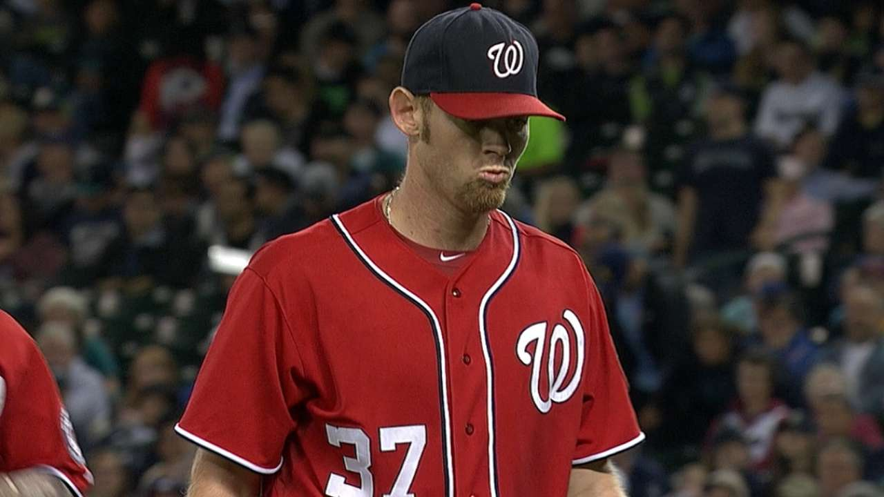 Stras limits Mariners as Nationals grow NL East lead