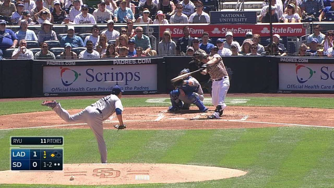 Padres let Dodgers pull away late in series finale