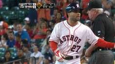 Dominguez, Altuve Team Up, Lead Astros Over Texas