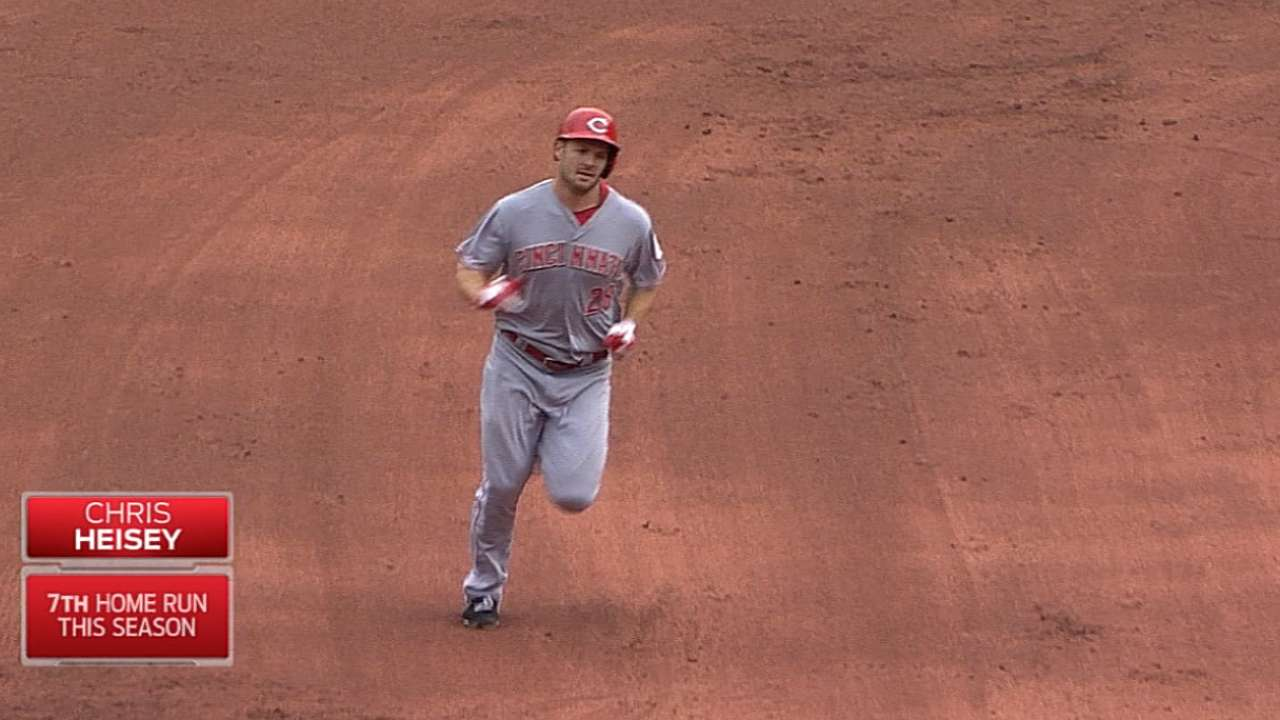 Heisey's two-homer game