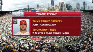 Broxton dealt to Brewers for two players to be named