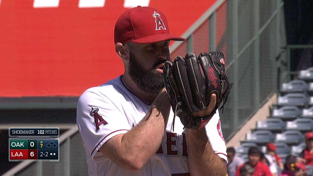 Shoemaker AL's top pitcher, rookie for August