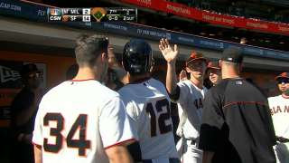 Giants blast Brewers for sixth straight victory