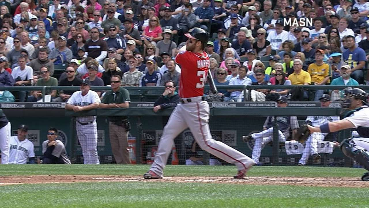 Harper's two homers not enough in series finale