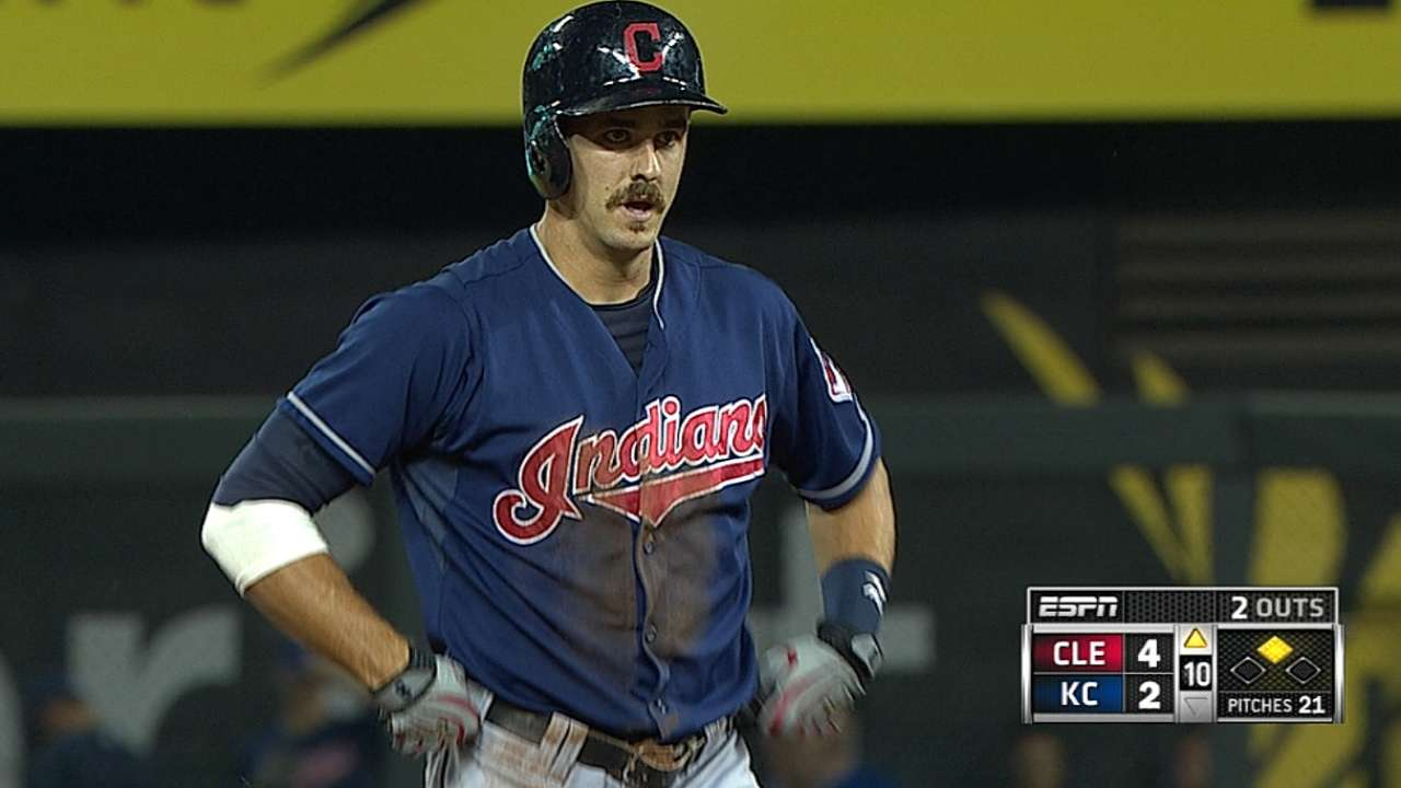 Tribe holds off Royals to complete suspended game