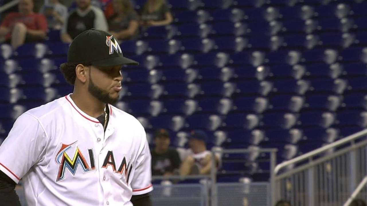 Alvarez's funky first pitch