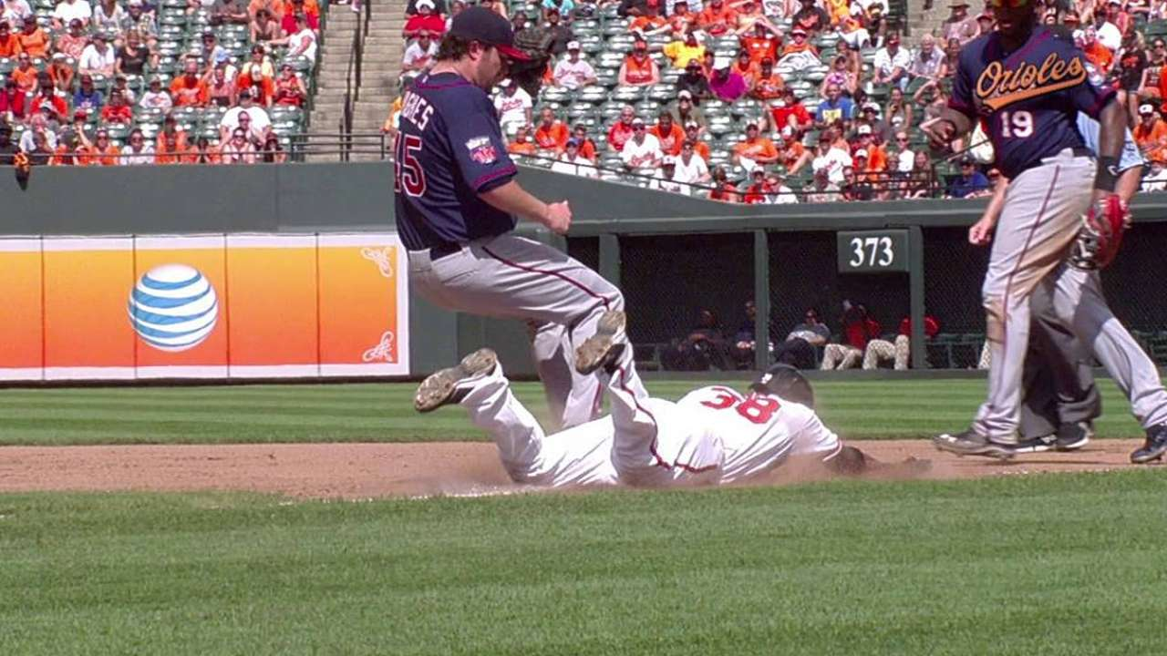 O's lose replay challenge in the fifth vs. Twins