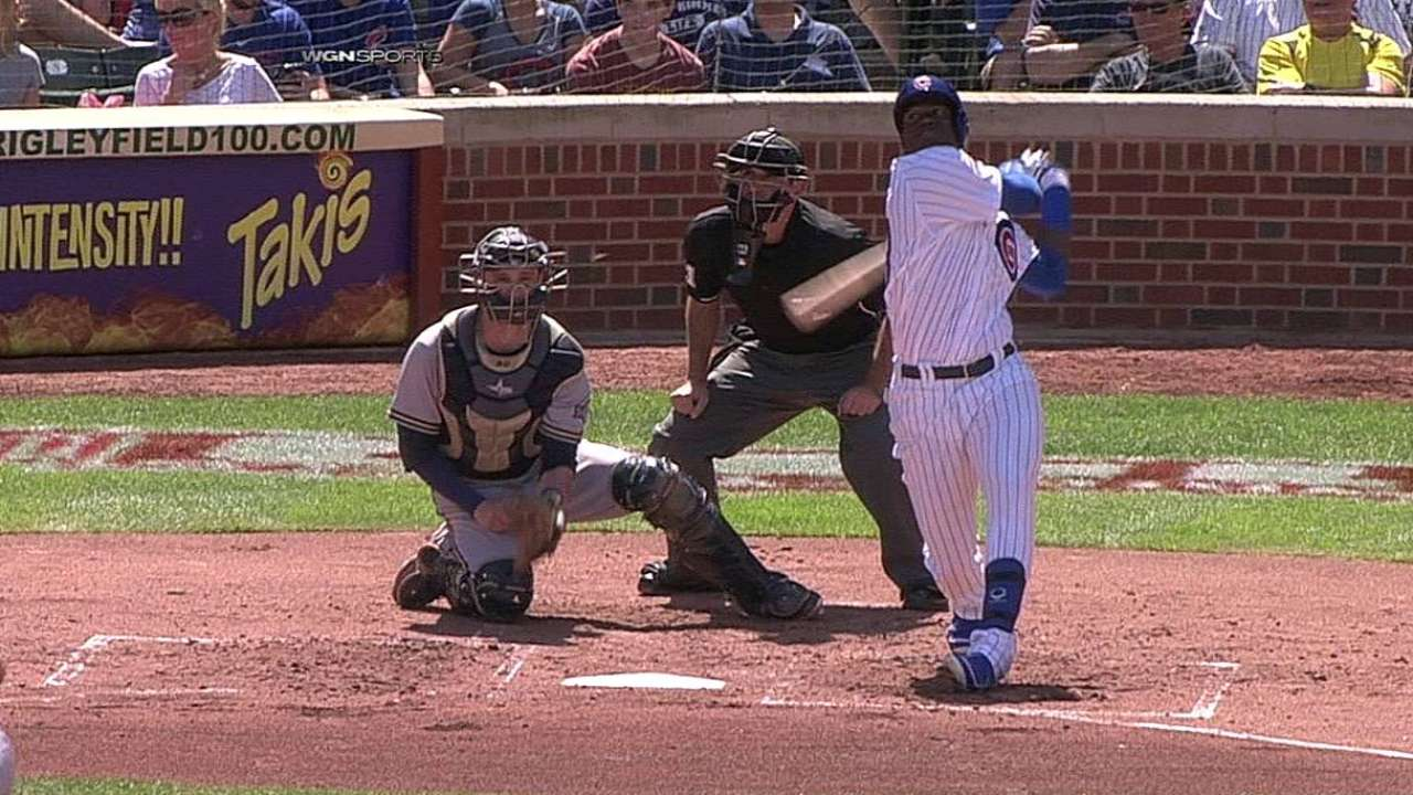 Soler makes highly anticipated Wrigley debut