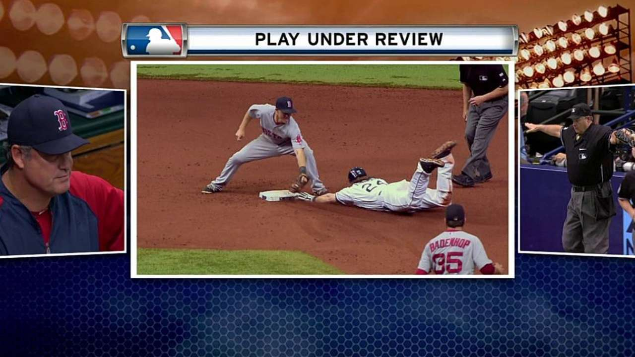 Call at second key play in Rays' walk-off win