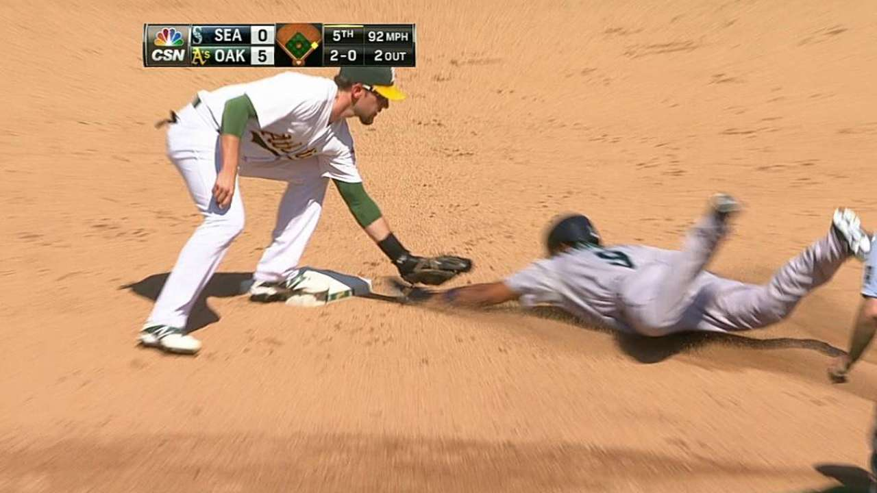 A's catcher Soto to sit out at least through Monday