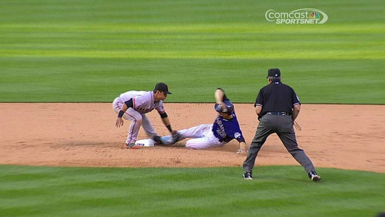 Rockies unsuccessful in challenging tag play